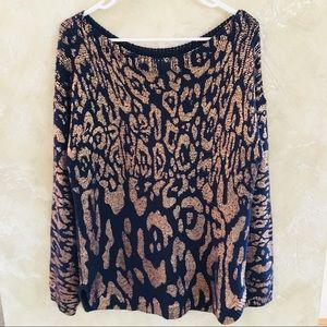 Chico's Animal Print Sweater